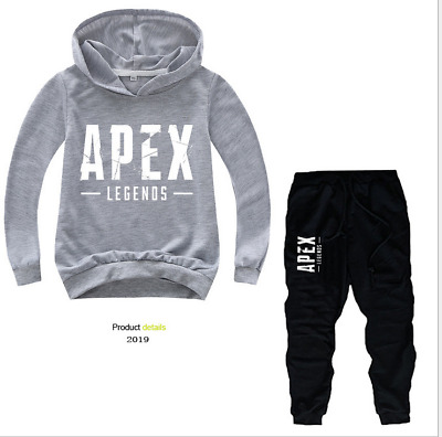 New Game APEX Kid's boys girls Long Sleeve cotton Hoodie coats+pants Two-piece