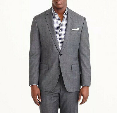 New J.Crew Crosby Suit Jacket w/ Center Vent Italian Worsted Wool Size 46R