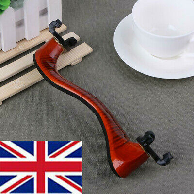 For 3/4 4/4 Size Violin Adjustable Wood Rubber Violin Shoulder Rest Padded UK