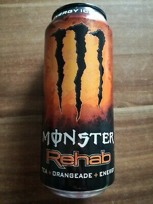 1 Volle Energy drink Dose Monster Rehab Ice Tea Orange Can Coca Cola FULL USA