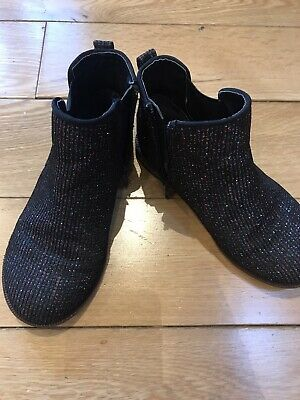 Girls Navy Party Next Sparkle Chelsea Boots Size 11
