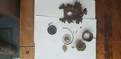 Antique Miniature  Black forrest Cuckoo Clock spares or repair quality movement
