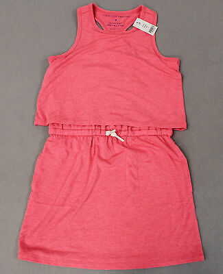 Rockets of Awesome Girl's Sleeveless Double Layer Dress SC4 Pink Size 8 NWT