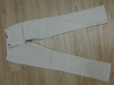 "Boys Cream Stone Chinos With Stretch w26"" L30"""