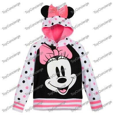 DISNEY Store HOODIE for GIRLS - MINNIE MOUSE POLKA DOT Choose Size NWT