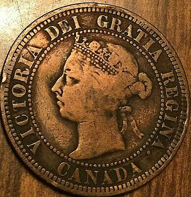 1891 Canada Large Cent Large 1 Cent Coin Penny