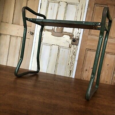 Vintage Industrial Stool Bench Tubular Steel.garden Stool Kneeling Pad