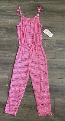 Juicy Couture Girls Pink White 1pc Romper Size 6x nwt