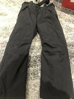 H&M Boys Girls Age 10 11 Black Salopette Ski Trousers Snow Holiday Kids 146cm