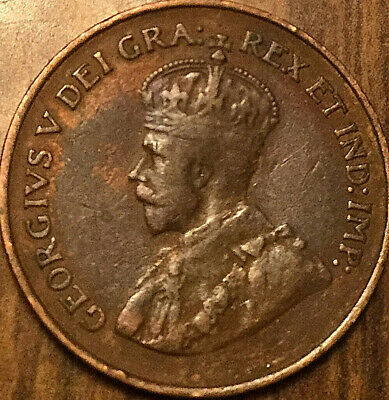 1925 CANADA SMALL CENT PENNY SMALL 1 CENT COIN - Very keydate - Nicer example!