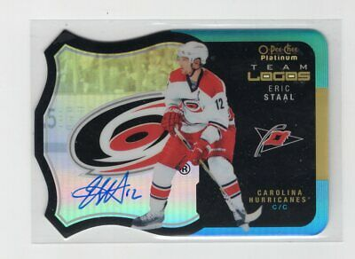 2015-16 O-Pee-Chee Opc Platinum Auto Autograph Group A Eric Staal - Rare - Canes