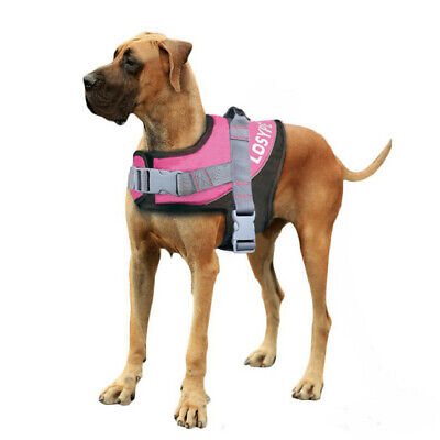 Large Strong Comfortable Fabric Dog Puppy Pet Adjustable Harness Power Outdoor