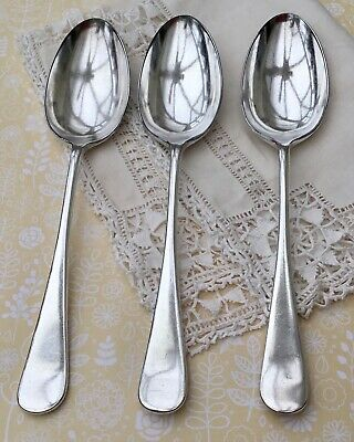 MAPPIN & WEBB 21.2cm TABLE SPOONS x3 ANTIQUE CUTLERY PRINCES PLATE SHEFFIELD
