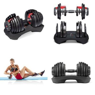Bowflex SelectTech 552 Adjustable Dumbbell Save Space Sync Weightlifting Gym New