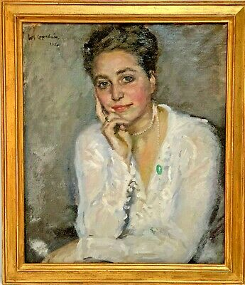 1920  Portrait of a Woman, oil painting, Joseph Oppenheimer (1876 - 1966)