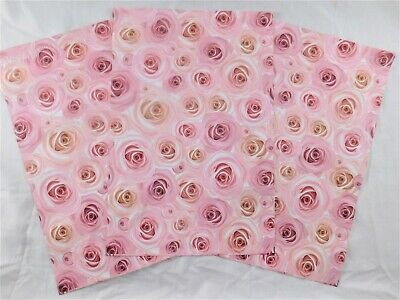 25 New ROSES 9x12 Pink Flower Mailers Poly Shipping Envelopes Boutique Bags