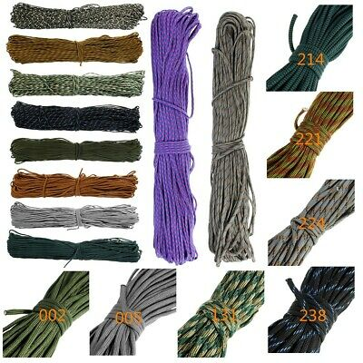 AU 550 Paracord Parachute Cord Lanyard Mil Spec Type III 7 Strand Core 300FT 91M