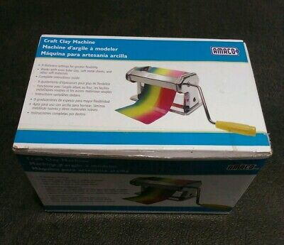 NEW! AMACO Crafting Pasta Machine for Polymer Clay Soft Metal Sheets  9 Settings