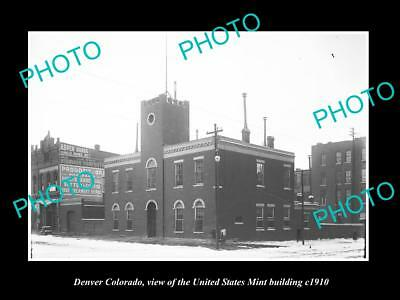 OLD LARGE HISTORIC PHOTO OF DENVER COLORADO THE UNITED STATES MINT c1910