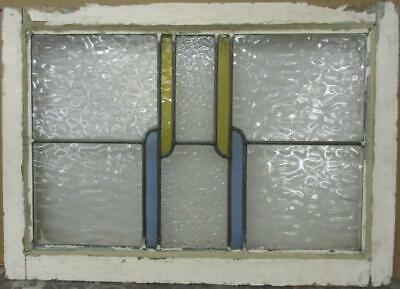 """MIDSIZE OLD ENGLISH LEADED STAINED GLASS WINDOW Pretty Stripes 25.5"""" x 18.25"""""""