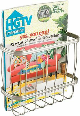 Idesign York Metal Over The Tank Magazine Rack, Newspaper And Book Holder For Ba