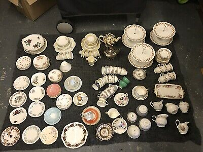 Vintage Mismatched China Crockery Job Lot For Wedding/christening/party Or Hire