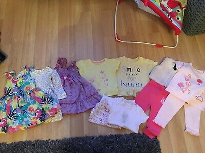 BABY GIRLS CLOTHES BUNDLE AGE 9-12 MONTH FROM SAINSBURY'S etc