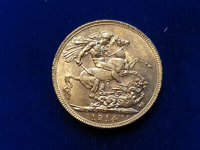 Australia Gold FULL Sovereign 1914-P Perth Mint George V