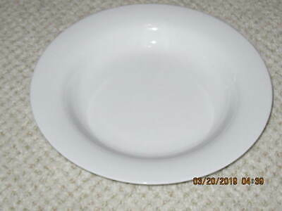 "Crate And Barrel  ""Diner""   White Soup Bowls  --  2"
