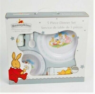 Bunnykins by Royal Doulton 5 Piece Dinner Set Brand New baby toddler gift