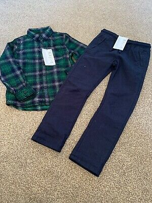 bnwt marks and spencer Boys Shirt And Trousers Set Aged 4-5 Years