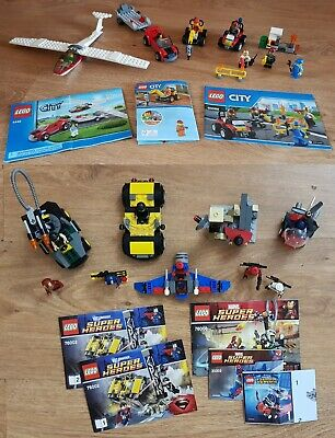 Misc Lego City and Super Heroes sets