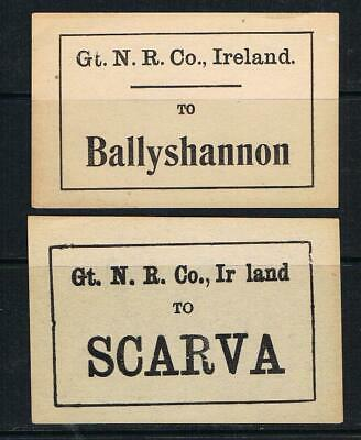 ireland great northern railway Co. 2 diff luggage labels