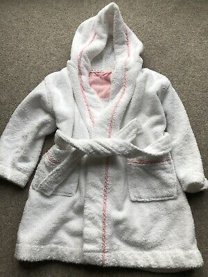 John Lewis White Towelling Dressing Gown Age 3