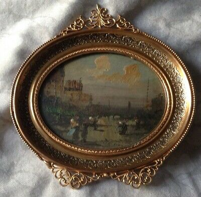 ANTIQUE GILT FRAMED OIL PAINTING possibly French