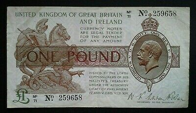 £1. One Pound Note. Fisher.