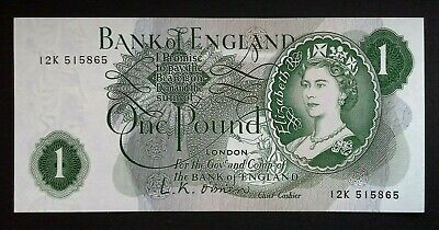 £1. One Pound Note. O'brien. 12K 515865. Uncirculated.