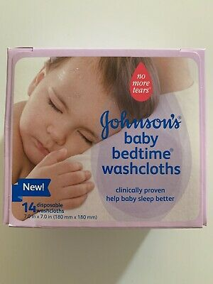 Johnsons Baby Bedtime Washcloths Help Baby Sleep Better 14 cloths Discontinued