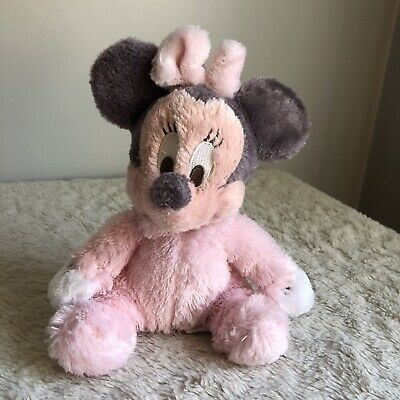 Disney Parks Exclusive Baby Minnie Mouse 9 Inch Long Pile Plush Rattle Doll