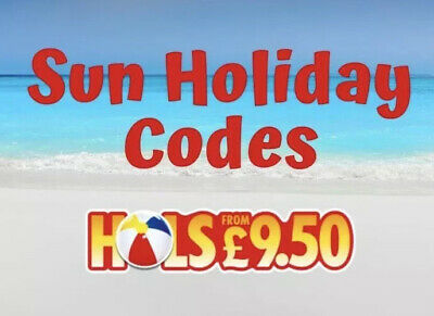 Sun Codes ✅  £9.50 ALL New Code Words  Summer holidays 2020