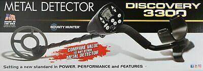 """Discovery 3300 Metal Detector Bounty Hunter 8"""" Coil Lightweight, LCD Display"""