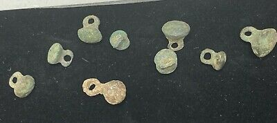 Authentic Ancient Lake Ladoga VIKING Artifact > Lot of 10 Necklace beads  VW1-J