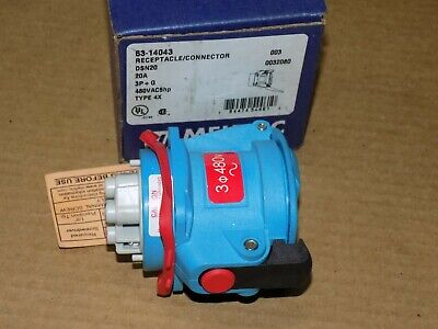 Meltric 63-14043 Receptacle DSN20 20 amp 480 vac