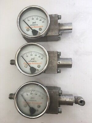 Three (3) Orange Research Stainless Steel 1516DG#67894 Pressure Gauge