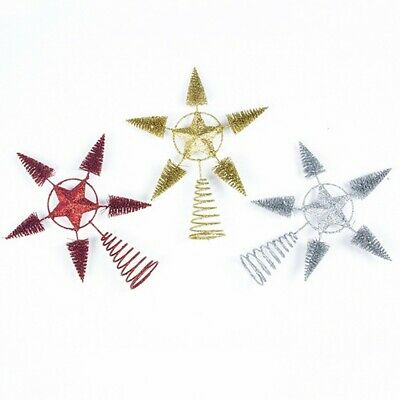 Christmas Tree Topper Star Ornaments Metal Treetop For Home Decor Festival Xmas