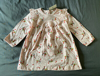 Baby Girl 18-24 Month Baby Gap Pink Floral Print Eyelet Long Sleeve Dress