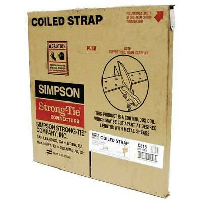NEW Simpson Strong-Tie CS16 Galvanized Coiled Utility Strap, 16 gauge 150ft.