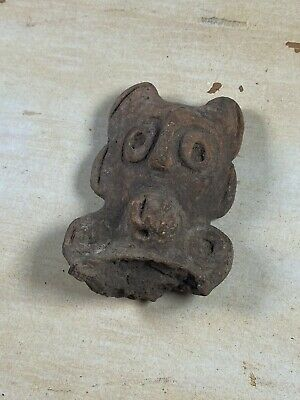 Ancient pre-columbian Terra-cotta Pottery Effigy Face - Pottery Shard