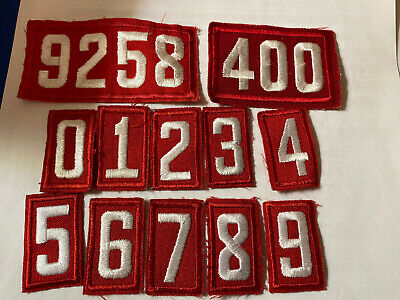 Current Boy Cub Scout Red Twill Troop Unit #s Your Choice of Number & Quantity