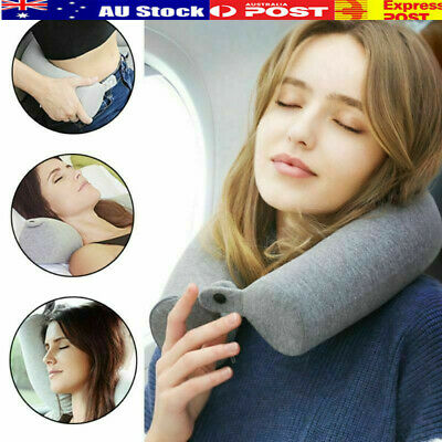 Memory Foam Twist Travel Neck Pillow Support Head Rest Airplane Cushion nD
